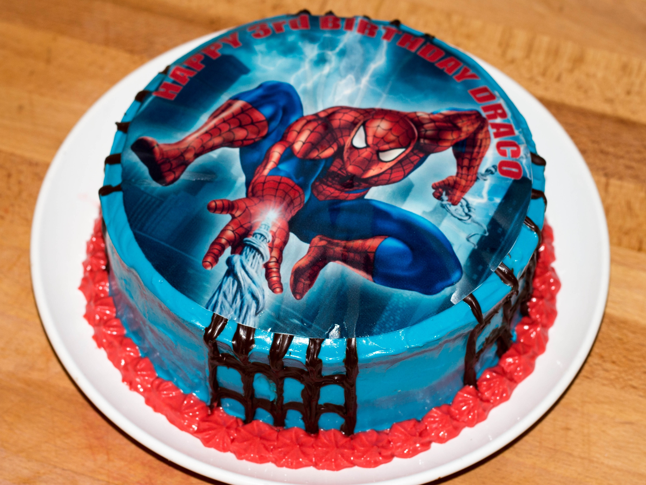 Birthday Cake Designs Spiderman : Red Velvet Spiderman Birthday Cake   Briana s Bakes