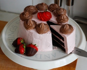 strawberry-chocolate-cake