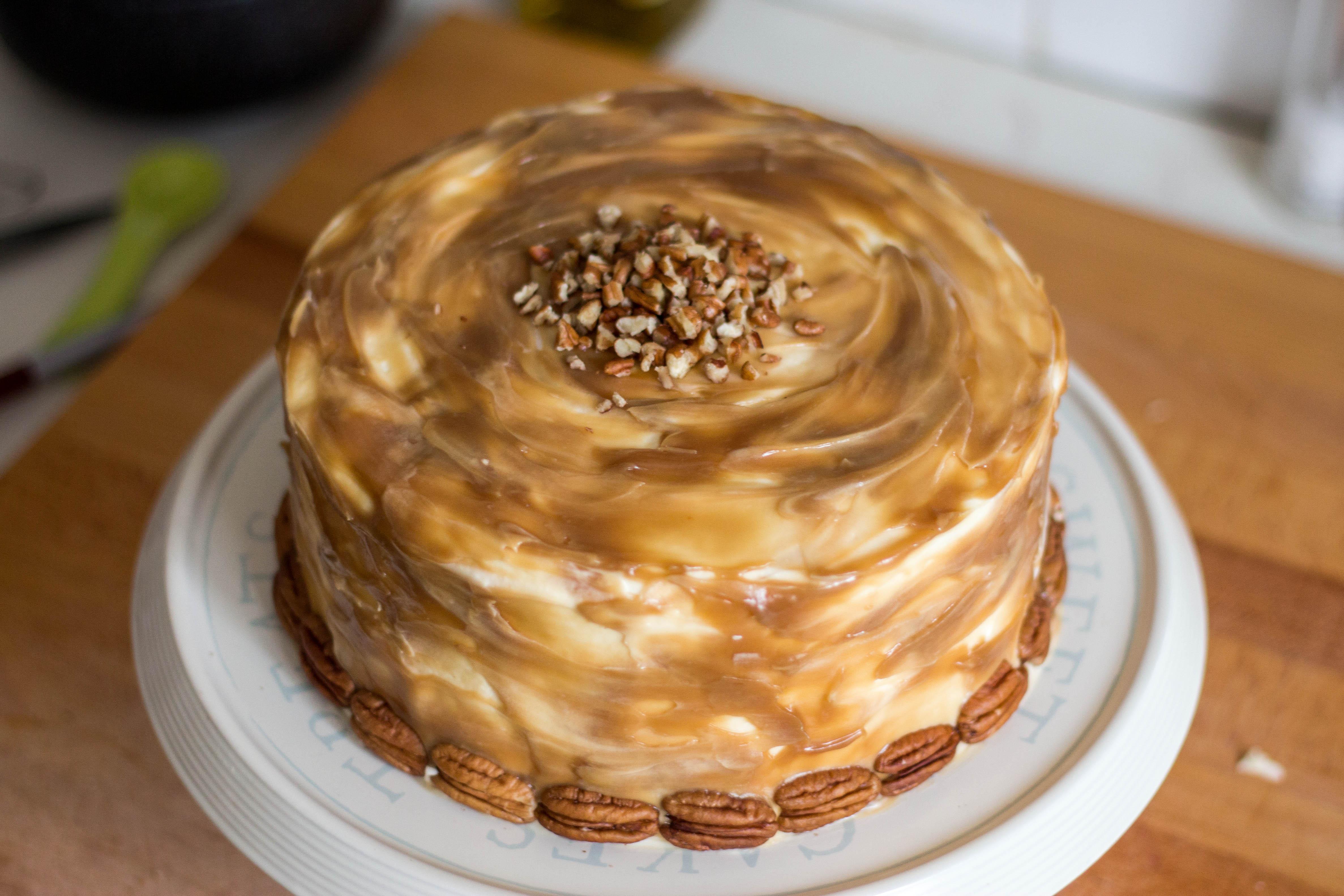 Caramel Banana Cake Recipe — Dishmaps